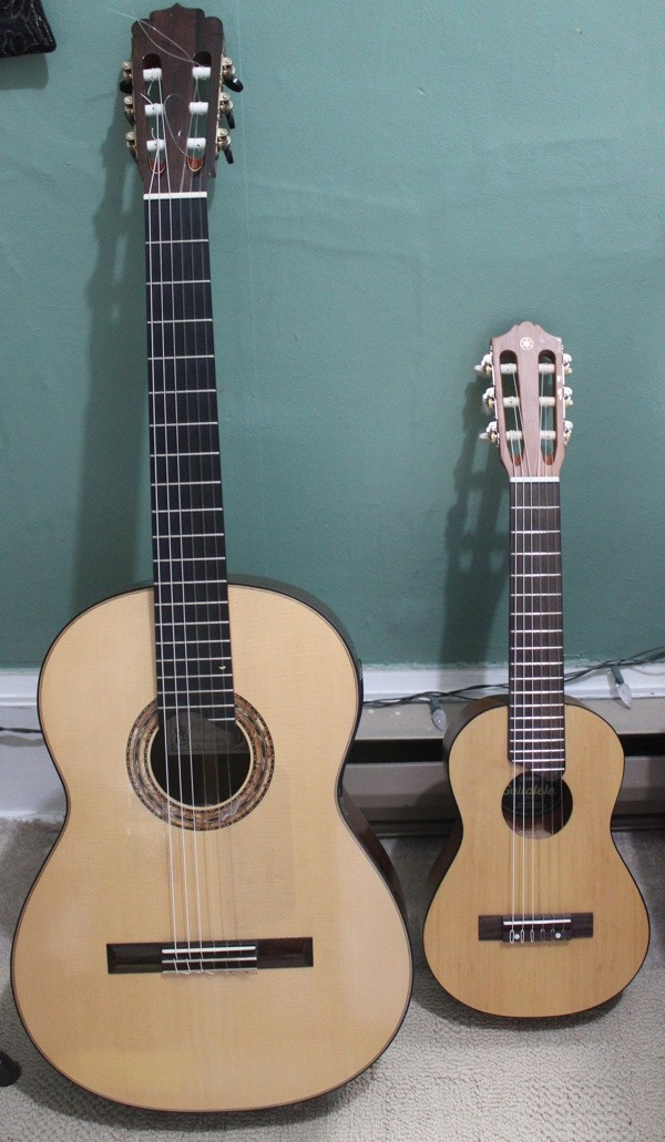 yamaha guitarlele travel guitar good fun for classical guitarists this is classical guitar. Black Bedroom Furniture Sets. Home Design Ideas