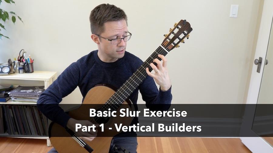 Basic Slur Exercise for Classical Guitar