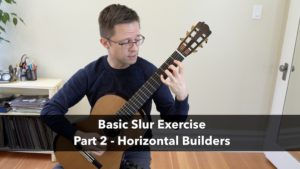 Left Hand Slur Exercise: Horizontal Builder