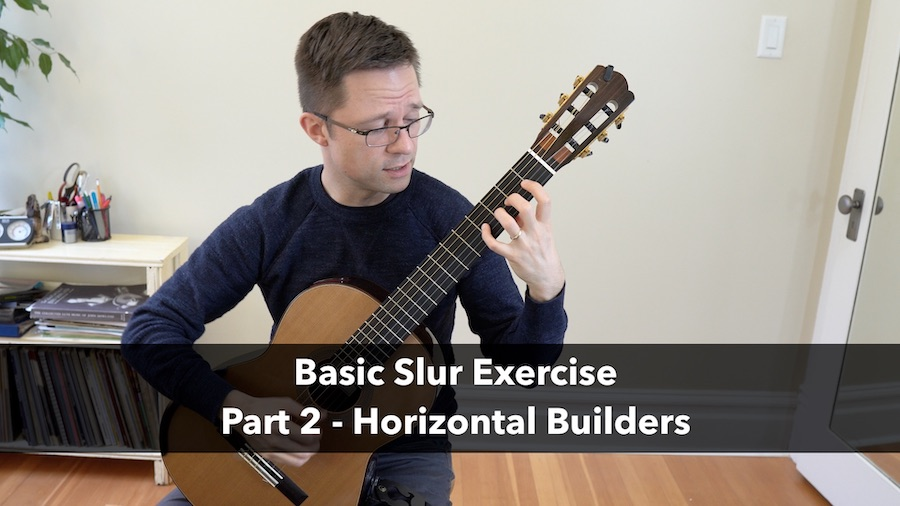 Left Hand Slur Exercise: Horizontal Builder