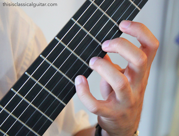 Left Hand Fingers - Classical Guitar