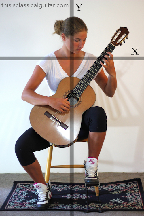 Guitar Sitting Position with Footstool