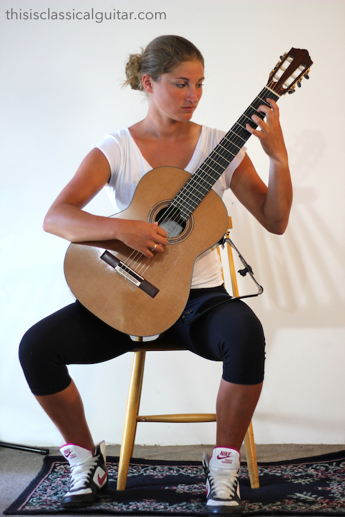 Sitting Position for Classical Guitar with Guitar Support - How to Hold a Guitar
