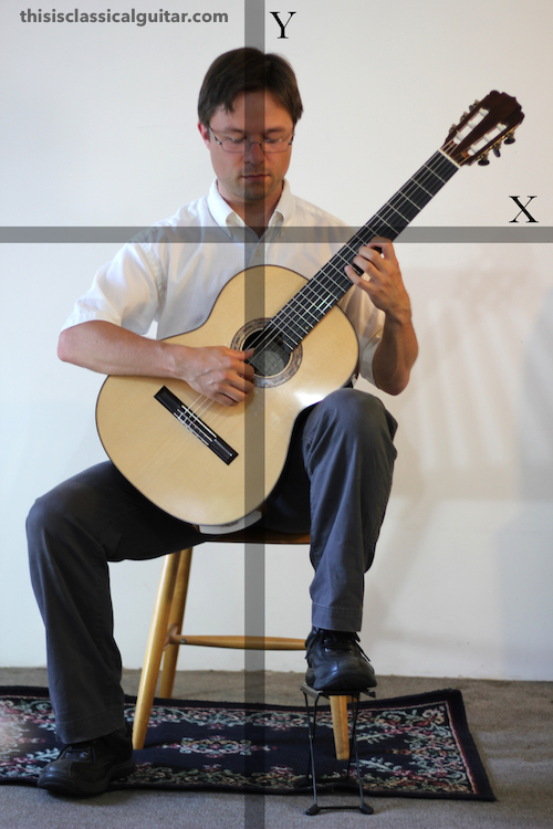 Sitting Position & Posture (Footstool Diagram) - Classical Guitar