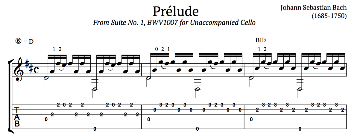 Guitar bach cello suite 1 guitar sheet music : Bach Prelude & Cello Suite No.1, BWV 1007 (Free PDFs) | this is ...