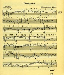BWV 995 Falckenhagen arrangement, copied by Albert Meinhardt, 1939