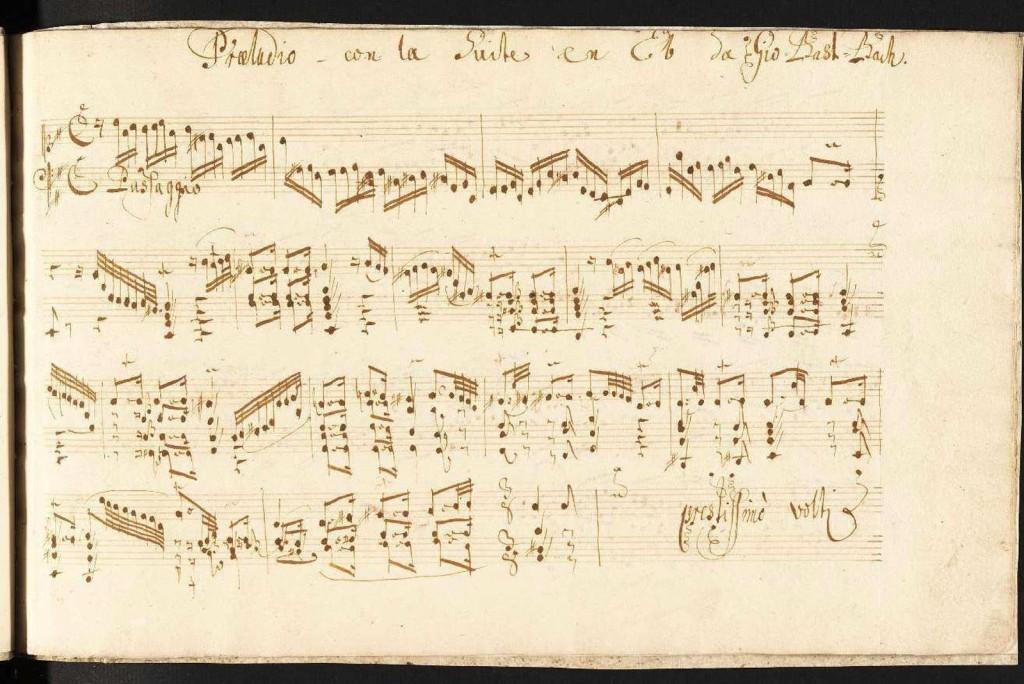 BWV 996 Praeludio con la Suite aufs Lauten werck opening page