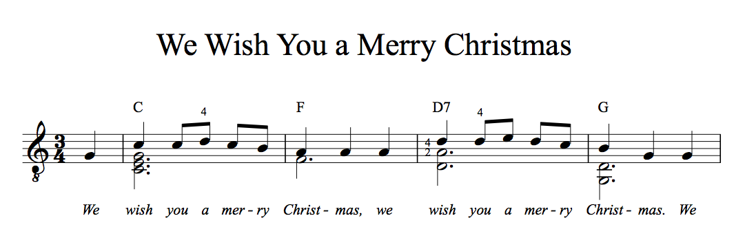 Guitar u00bb Guitar Tabs We Wish You A Merry Christmas - Music Sheets, Tablature, Chords and Lyrics