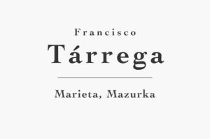 Marieta, Mazurka by Francisco Tárrega (Free Sheet Music and Tab PDF)