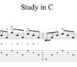 Study in C by Tarrega -Sample