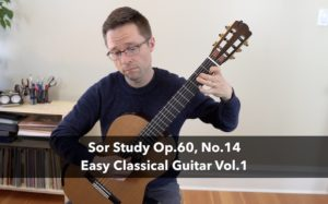 Lesson: Sor Study Op.60, No.14, Andante by Sor for Classical Guitar