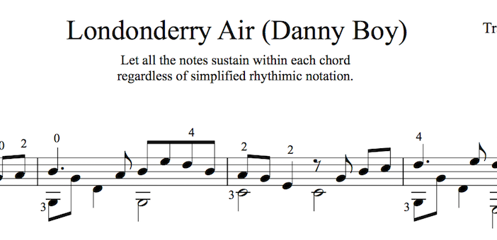 Danny Boy for Easy Guitar (PDF) | This is Classical Guitar