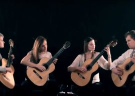 Weimar Guitar Quartet Play Nebulae by Olga Amelkina-Vera