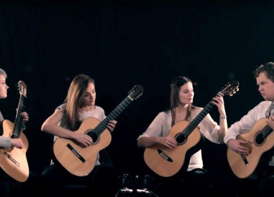 Weimar Guitar Quartet Play Nebulae by Olga Amelkina-Vera