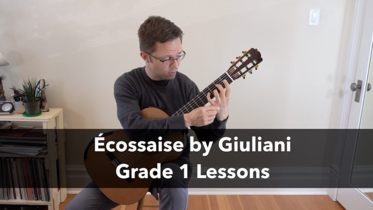 Grade 1 Lesson: Écossaise, Op.33, No.2 by Giuliani