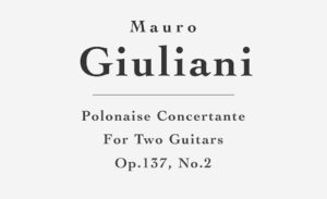 Polonaise Concertante, Op.137, No.2 for Two Guitars by Mauro Giuliani