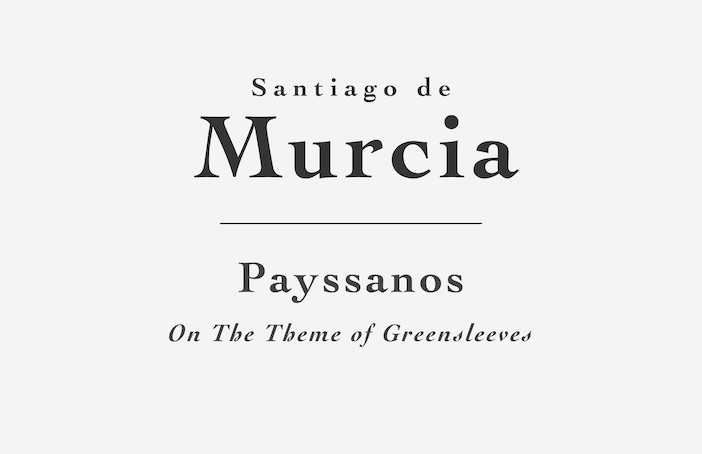 Payssanos (Greensleeves) by Santiago de Murcia - Sheet Music or Tab for Classical Guitar