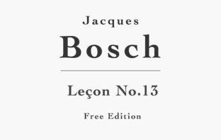 Leçon No. 13 by Bosch (Free PDF Sheet Music)