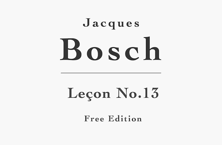 Leçon No. 13 by Bosch (Free PDF Sheet Music)