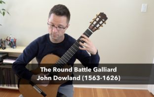 The Round Battle Galliard by John Dowland – Sheet music and TAB for classical guitar
