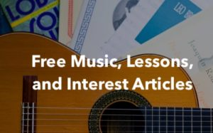 Free Sheet Music and Lessons for Classical Guitar