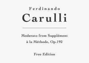 Moderato, Op.192 by Ferdinando Carulli - Free PDF Sheet Music and TAB
