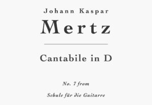 Cantabile in D by Mertz - Sheet Music and Tab PDF