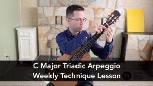 Lesson: C Major Triadic Arpeggio for Guitar