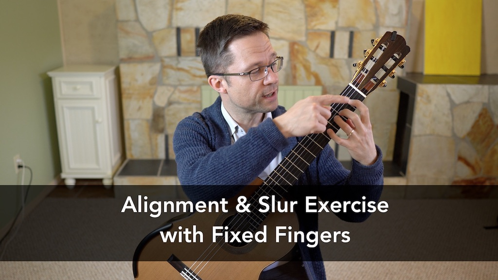 Lesson: Alignment & Slur Exercise with Fixed Fingers