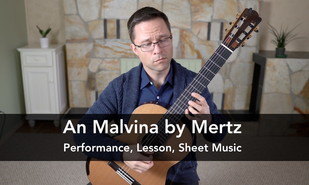 An Malvina by Mertz from Bardenklänge, Op.13. PDF sheet music or tab for classical guitar.