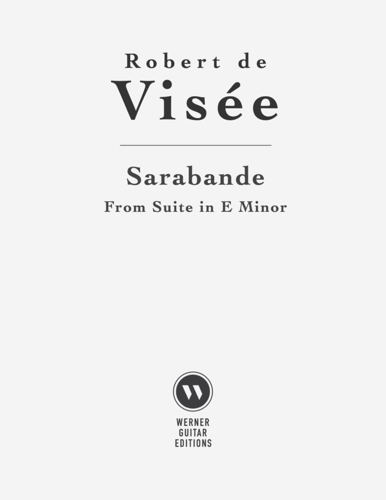 Sarabande in E Minor by Visée
