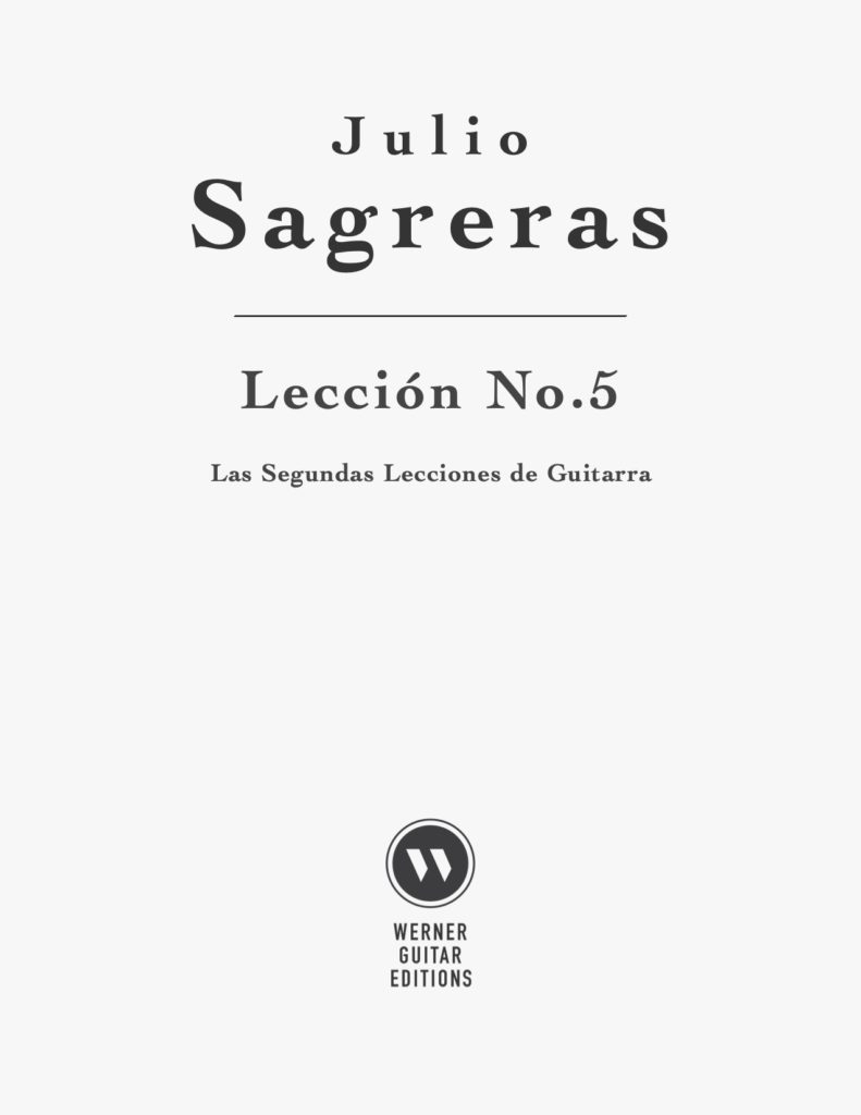 Lección No.5, Book 2 by Sagreras (PDF Sheet Music and Tab)
